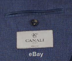 NWT CANALI 1934 Blue Houndstooth Wool 2 Button Slim Fit Suit Size 52/42 R $1895
