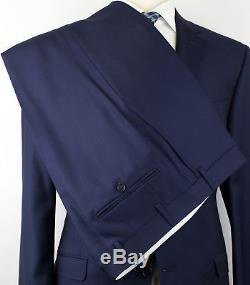 NWT CANALI 1934 Blue Wool 2 Button Slim Fit Suit Size 54/44 R Drop 8 $1795