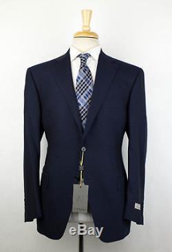 NWT CANALI 1934 Blue Wool 2 Button Slim/Trim Fit Suit Drop 7 Size 52/42 S $1895