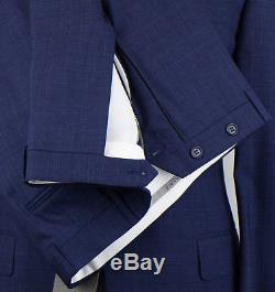 NWT CANALI 1934 Blue Wool 2 Button Slim/Trim Fit Suit Size 50/40 R Drop 7 $1795