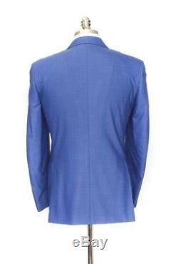 NWT CANALI 1934 Cerulean Blue All-Season Wool Slim Fit 2Btn Suit 56 46 fits 44 R