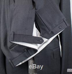 NWT CANALI 1934 Gray Birdseye Wool 2 Button Slim Fit Suit Size 56/46 R $1995