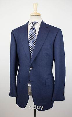 NWT CANALI 1934 Navy Blue Striped Wool 2 Button Slim Fit Suit Size 56/46 R $1895
