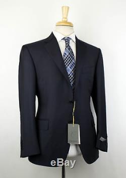 NWT CANALI 1934 Navy Blue Wool 2 Button Slim/Trim Fit Suit Size 56/46 R $1695