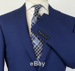 NWT CANALI 1934 Navy Blue Wool Blend 2 Button Slim Fit Suit Size 48/38 R $1895