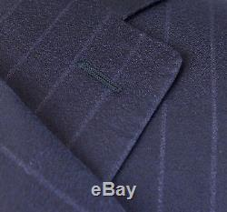 NWT CANALI 1934 Oxford Blue Striped Wool 2 Button Slim Fit Suit 58/48 R $1995