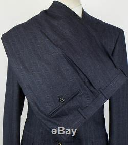 NWT CANALI 1934 Yale Blue Striped Wool 2 Button Slim Fit Suit Size 52/42 R $1895