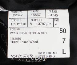 NWT CANALI Black Wool Slim/Trim Fit Peak Lapels Tuxedo Suit 50/40 L Drop 7 $1895