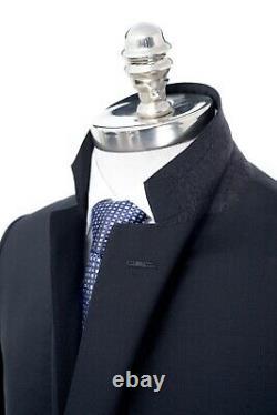NWT CARUSO Black Birdseye Superfine 130's Wool Slim Fit 2 Btn Suit 38 R (EU 48)