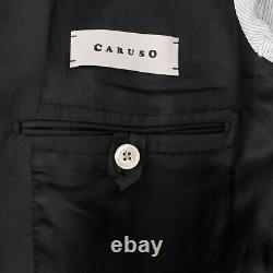 NWT CARUSO Black Wool Blend 3 Roll 2 Button Slim Fit Suit 50/40 R Drop 8