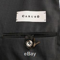 NWT CARUSO Brown Striped Double Breasted Slim/Trim Fit Suit 50/40 R Drop 7