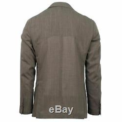 NWT CARUSO Brown Wool 3 Roll 2 Button Slim Fit Suit 48/38 R Drop 8