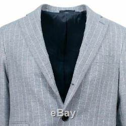 NWT CARUSO Gray Striped Wool 3 Roll 2 Button Slim/Trim Fit Suit 50/40 R Drop 7