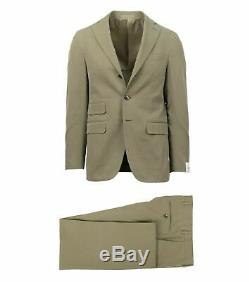 NWT CARUSO Green Cotton 3 Roll 2 Button Slim Fit Suit 46/36 R Drop 8