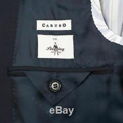 NWT CARUSO Navy Blue Wool 3 Roll 2 Button Slim Fit Suit 48/38 R Drop 7