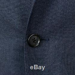 NWT CARUSO Navy Blue Wool Blend 3 Roll 2 Button Slim Fit Suit 50/40 R Drop 8
