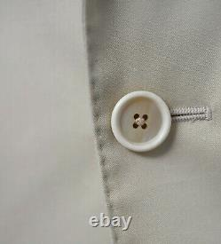 NWT CARUSO Solid Ivory Super 130's Wool Slim Fit Two Button Suit 42 R (EU 52)