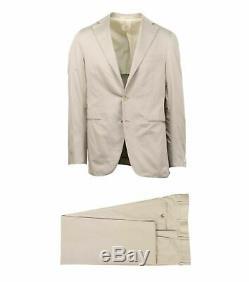 NWT CARUSO Tan Cotton 3 Roll 2 Button Slim Fit Suit 50/40 R Drop 8