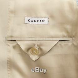 NWT CARUSO Tan Cotton 3 Roll 2 Button Slim/Trim Fit Suit 50/40 R Drop 7