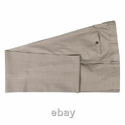 NWT CARUSO Tan Wool 3 Roll 2 Button Slim/Trim Fit Suit 58/48 R Drop 7