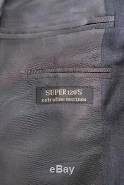 NWT CORNELIANI CC COLLECTION Gray Super 120s Slim Fit 3/2 Roll Suit 52 42 Drop 8