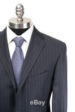 NWT CORNELIANI CC COLLECTION Navy Extrafine Wool 3/2 Roll Slim Fit Suit 50 40 R
