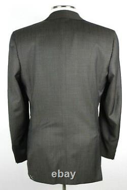 NWT Canali 1934 Brown Pin dot Year Round Wool Flat Front Suit 44 R Slim Fit 54EU