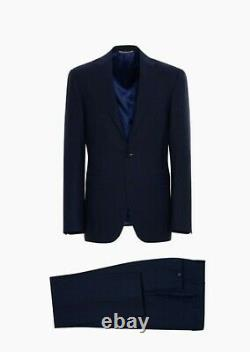 NWT Canali Solid Blue/ Navy Suit 40R/50R Slim Modern Fit, All Season Suit