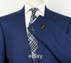 NWT ERMENEGILDO ZEGNA Blue Wool 2 Button Slim/Trim Fit Suit 56/46 L Drop 7 $3495