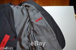 NWT Hugo Boss Black Label By Hugo Boss Micro Pattern Extra Slim Fit Suit Sz 38S