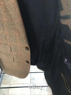 NWT J Crew Slim Fit Ludlow Brown Glen Plaid Suit 38R/32x32