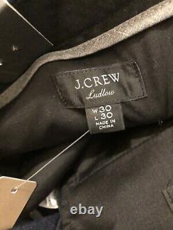NWT JCrew Ludlow Essential Slim-fit Suit Blue glen plaid Stretch Wool 38S 30/30