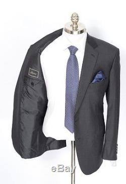 NWT Mens BRIONI Colosseo 22 Solid Gray All Season Wool Slim-Fit 2Btn Suit 44 R