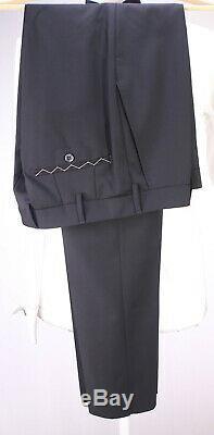NWT New LUIGI BIANCHI Black Peak Lapel 1-Btn Wool-Mohair Slim Fit Tuxedo 38R