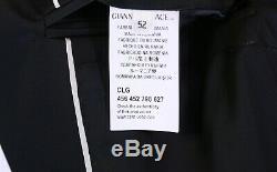 NWT New VERSACE Collection Black Peak Lapel Tuxedo Dinner Slim Fit Suit 42R