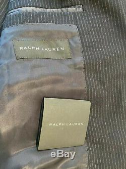 NWT Ralph Lauren Black Label Italy AUSTIN Slim Fit Navy Wool Suit 42R 35 $2395