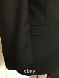 NWT Ralph Lauren Black Wool Suit 42R 2 Pics Slim Fit