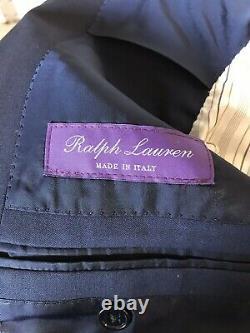 NWT Ralph Lauren Purple Label RLPL DRAKE Navy Suit RARE 38R 48R Custom Fit