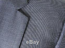 NWT Recent Hugo Boss Men's Blue 2 Button Side Vented Slim Fit Suit Size 44R/W38