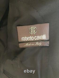 NWT Roberto Cavalli Giacca Slim Fit Suit Jacket Tuxedo Blue Black $710 Size 54