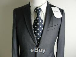 NWT Theory Men'S Charcoal Gray Slim Fit Wool 2 Pc Suit-38R $860