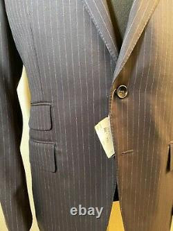 NWT Tom Ford 100% Wool Navy Blue O'Connor Fit Peak Lapel Two Button Suit 40R