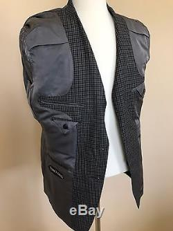 NWT Tom Ford Wool Black Grey Check Slim Suit 50 IT Hand Made Swiss Fit Y $4760
