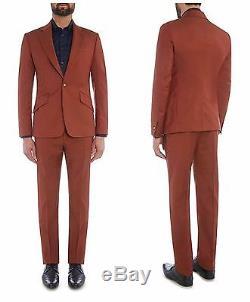 Nwt Vivienne Westwood Man Rust Slim Fit James One Button Suit. Uk 40r, Eur 50r