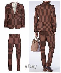 Nwt Vivienne Westwood Man Slim Fit Bordeaux Check Runway Suit. It 52r Uk 42r