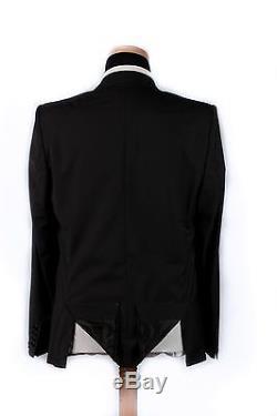 New 1600$ GIVENCHY Fine Wool Black 2 Button Suit 46US 56EU Slim Fit