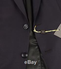 New $1995 Canali 1934 Peak Lapel Slim Fit Brown Wool Suit Size 40 (50 EU) NWT