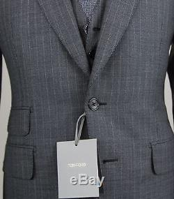 New 2016 Tom Ford 3 Piece Gray Suit Slim Fit Base E Model Size 38 (48 EU) NWT