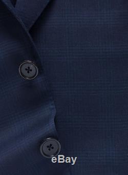 New 2017 TOM FORD Blue 3pcs Suit Lightweight Wool Slim-Fit 38 R US/48 IT $5450