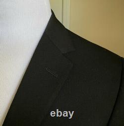 New $2375 Versace Mens Suit Slim Fit Black 40R US (50R Eu) Italy